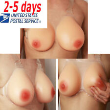 Strap-On Silicone Breast Form False Boobs Cross Dresser Enhancer Natural Feel