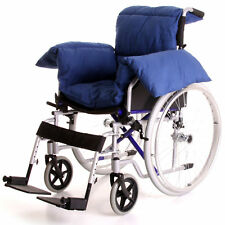 Blue Wheelchair T Shaped Hardwearing Slim Fit Fabric Pillow Cushion