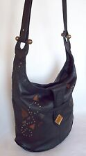 ARTIPELLE Black Leather Purse Handbag Bucket Crossbody Shoulder Bag Venezuela