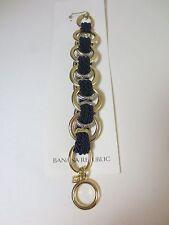 Banana Republic Double Link Gold Silver navy Rope Toggle Bracelet NIP $45