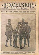 Mission Officers Japan Army Officiers Japonnais Tranchée Bataille Marne WWI 1915