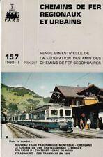 CHEMINS de FER RÉGIONAUX et URBAINS - N° 157 (1980 - 1) (CFRU - FACS) (Train)