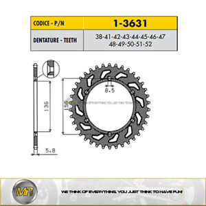 HUSQVARNA TXC 450 2008 2009 2010 2011 STEEL REAR SPROCKET SUNSTAR 520 38 TEETH