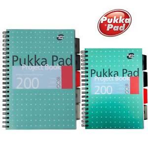 A4 B5 Project Note Book Metallic Jotta Ruled Lined Pad School Office Pukka