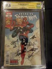Avenging Spider-Man #9 CGC 9.6 SS 4X Stan Lee 1st Carol Danvers CAPTAIN MARVEL