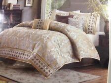 Posh 7pc Gold Taupe & BeigeGeometric Comforter Set & Decorative Pillows