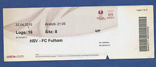 Orig.Ticket   Europa League  2009/10   HAMBURGER SV - FC FULHAM   1/2 FINALE  !!