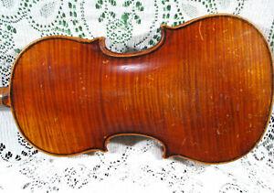 Stunning Old Violin Carl Neumann Stradivarius Copy 1 Piece Back 4/4 Needs TLC NR