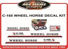 C-165 EIGHT SPEED WHEEL HORSE TRACTOR MOWER  DECAL SET, reproduction