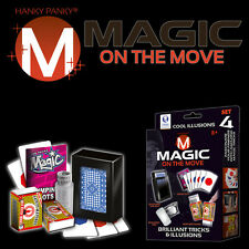 MAGIC ON THE MOVE POCKET SET 4 BY HANKY PANKY TRICKS COOL ILLUSIONS BRILLIANT