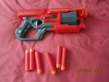 Red NERF Cylone Shock Pump Action Gun with foam bullets - BNWOB!!