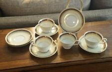 4 Cup & Saucer Sets Noritake China M Japan 6449  Blue & Gold 1914-1940 + Extra