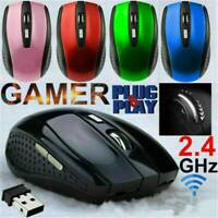 2.4GHz Wireless Optical Mouse Mice + USB Receiver For PC Laptop Computer DPI UK!