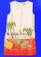 J Crew Crewcuts Girls Sleeveless Shift Dress In Barbados Print 5 Style 70101