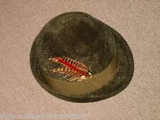 Trachtenhut Damenhut Mädchenhut, Wollfilz Haarfilz, moosgrün mit Federverzierung