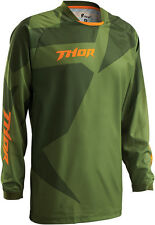 THOR MX Motocross 2016 Mens PHASE Jersey (CLOAK Green/Forest) S (Small)