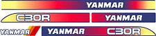 Yanmar c30r-2 Nachverfolgung Dumper Aufkleber Set