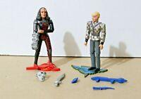 """VINTAGE Star Trek TNG SELA + K'EHLEYR COMPLETE 4"""" Action Figures Playmates 1993"""