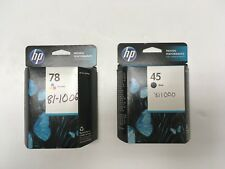 HP 45 BLACK & 78 TRI-COLOR INK CARTRIDGE NEW TOTAL 2