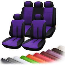 Auto Sitzbezug Sitzbezüge Schonbezüge Universal Neu Lila/Schwarz AS7288la