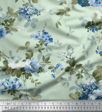 Soimoi Floral Printed 60 Wide 180 GSM 2-Way Stretch Velvet Fabric For Sewing