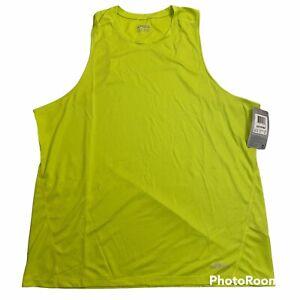 Asics Core Singlet Running Tank Top Green, Men's Size XL X-Large, MR1103-87 NWT