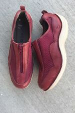 Bionica Oline Women US 7.5 Red Leather Zip On Shoes Casual Travel Sporty