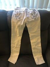 Miss Me White Skinny Jeans Size 10
