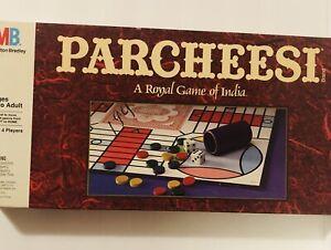 VINTAGE Milton Bradley 1989 PARCHEESI Royal Game Of India Complete
