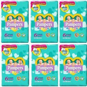 Pampers Baby Dry Pannolini Misura 6 (15-30Kg) 84 Pannolini