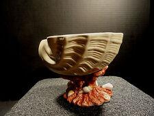 Ceramica De Cuernavaca Mexico Large Nautilas Shell on Coral Reef