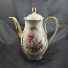 Cafetera gkc – Gareis Kühnl & co bavaria 94/4, perlmut-rosas decoración, borde de oro