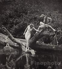 1937 Original 3 NUDE GIRLS Naked Female Photo Litho Art ~ ALFRED CHENEY JOHNSTON