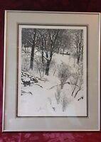 Winter Landscape by Viano Kola No 58/300 dated 1980