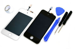 White / Black iPod Touch 4th Gen LCD Screen Replacement Digitizer Glass Assembly