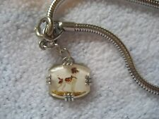 Jack Russell or Fox Terrier DOG Vintage glass intaglio bracelet