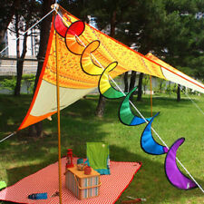 Camping Tent Foldable Rainbow Spiral Windmill Wind Spinner Home Garden Decor New