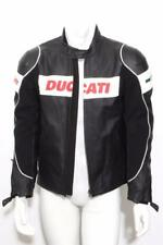 DUCATI Dainese Black Leather Padded Motorcycle Biker Racing Jacket 42-52 NWT
