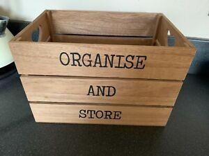 Home Decor - Wooden Storage Box , Organise & Store