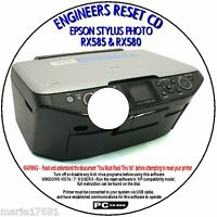 EPSON STYLUS RX580 RX585 PRINTER WASTE INK PAD COUNTER ERROR RESET REPAIR FIX CD