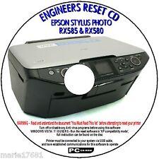 EPSON Stylus RX580 STAMPANTE RX585 rifiuti INCHIOSTRO PAD CONTATORE degli errori di reset riparazione Fix CD