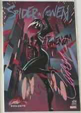 SPIDER GWEN 24 J SCOTT CAMPBELL C NYCC VARIANT SIGNED COA GWENOM NM+ SOLD OUT