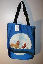 Lion King DISNEY Blue Canvas TOTE BAG with inside POCKET New