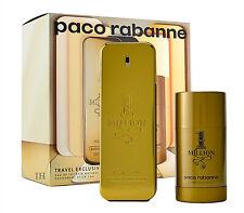 Paco rabanne one million 100ml eau de toilette spray & 75ml desodorante stick