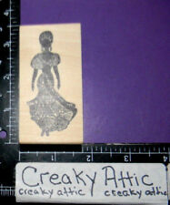WOMAN EXOTIC DRESS RUBBER STAMP AFFAIR MAINE STREET