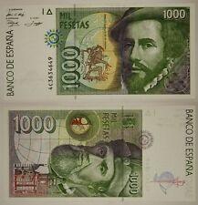 SPAGNA SPAIN 1000 PESETAS 12/10/1992 (1996) PICK #163  #B514