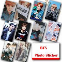 10Pcs / Set Kpop Bangtan Boys JIMIN HD Lustre Photocard Crystal Card Sticker