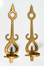 2 Vtg Homco Gothic Medieval Renaissance Baroque Gold Taper Candle Holder Sconces
