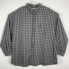 Columbia Sportswear Mens 3x Button Front Shirt Plaid Brown Black