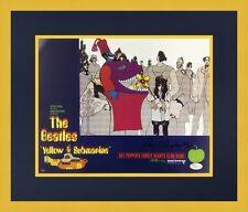 Ron Campbell Beatles Yellow Submarine Signed Lobby Card L/ED Set Custom Framed 2
